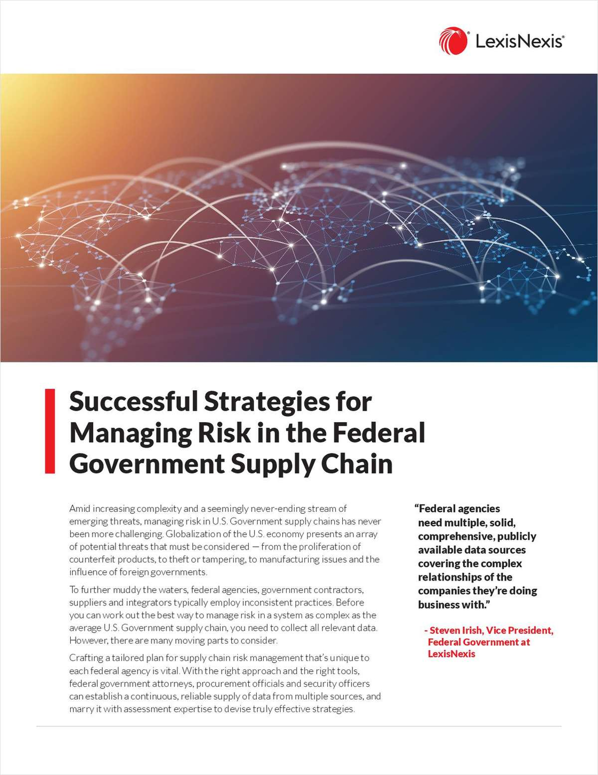 Successful Strategies for Managing Risk in the Federal Government Supply Chain