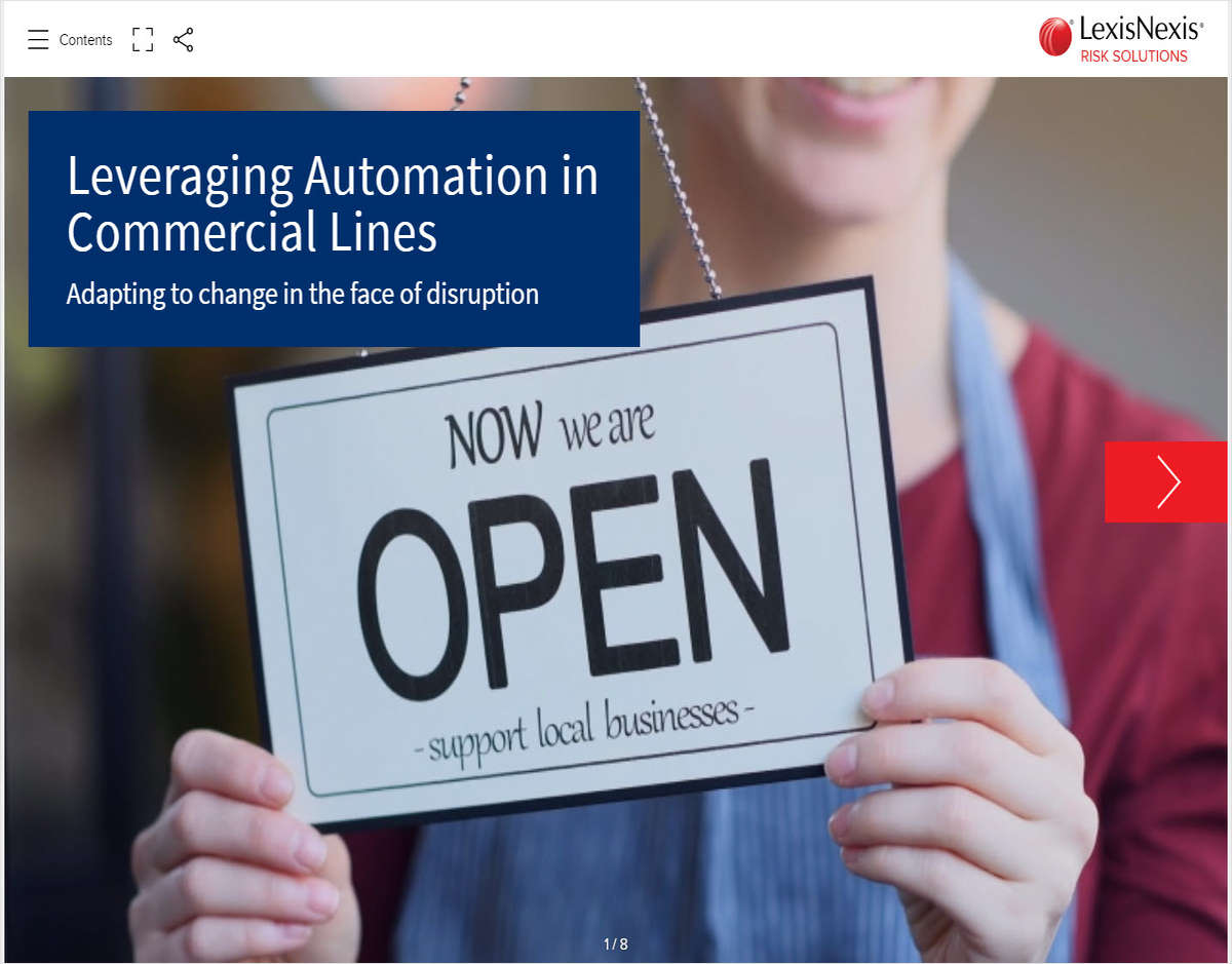Leveraging Automation in Commercial Lines: Adapting to Change in the Face of Disruption