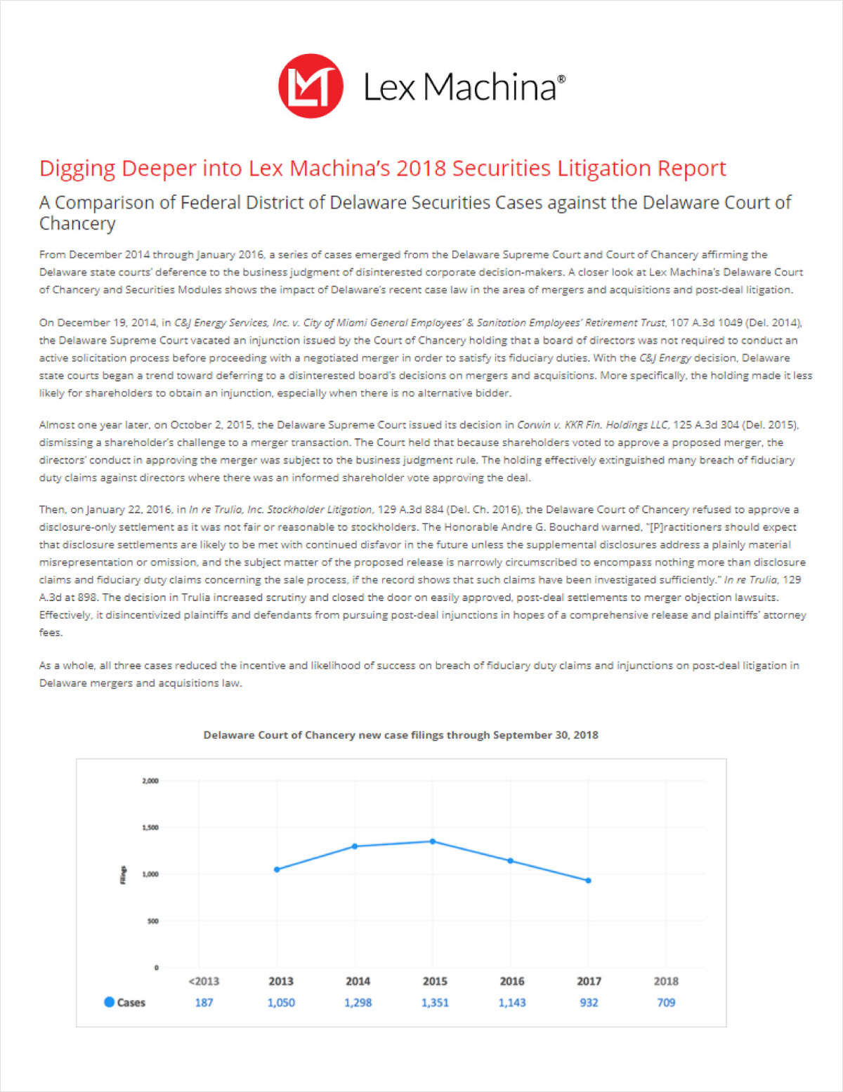 The Data Advantage: How Analytics Reveals Key Trends in 2018 Securities Litigation