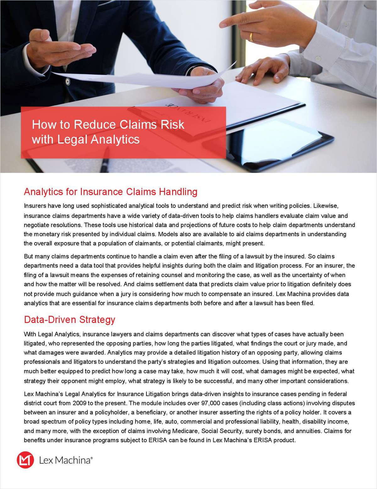 How to Reduce Claims Risk with Legal Analytics