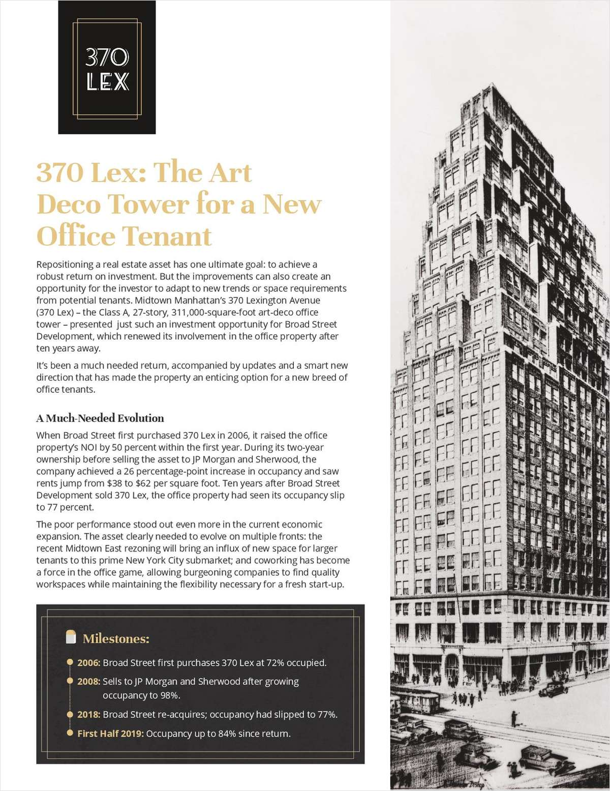 370 Lex: The Art Deco Tower for a New Office Tenant
