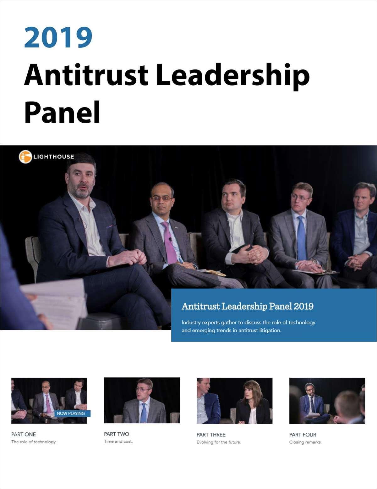 2019 Antitrust Leadership Panel