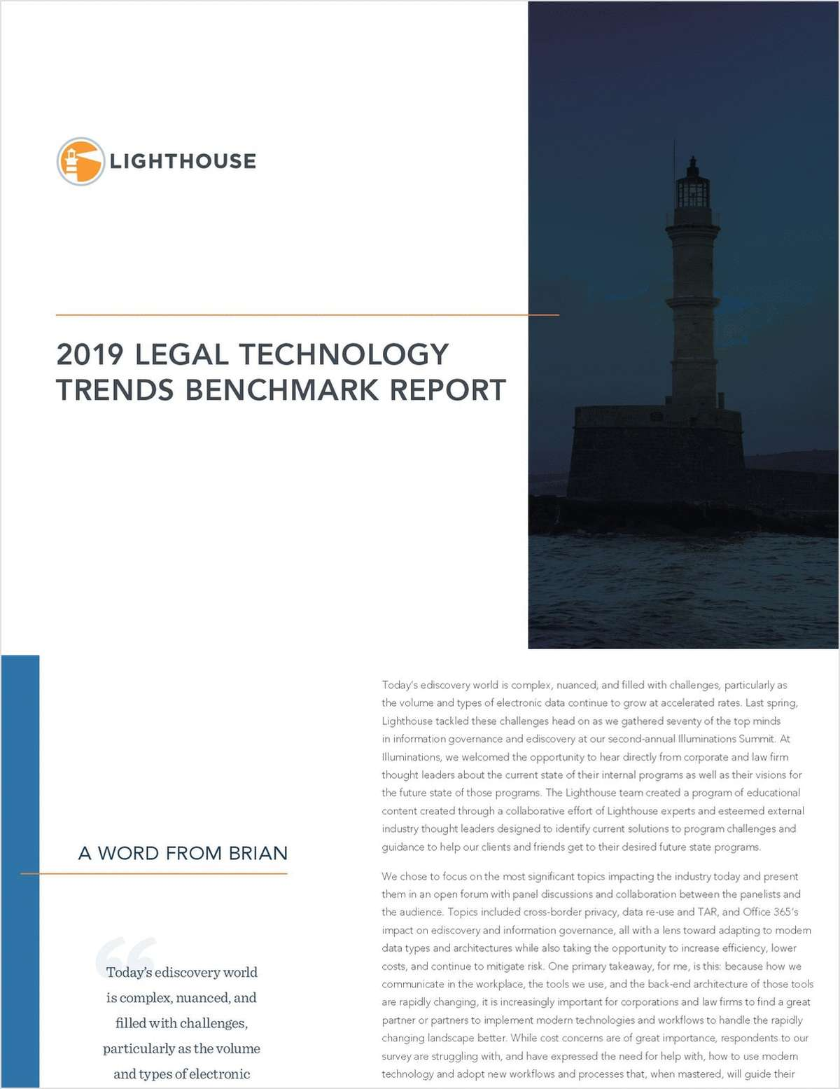 2019 Legal Technology Trends Benchmark Report
