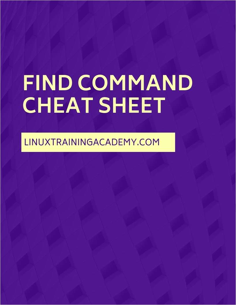 Find Command Cheat Sheet