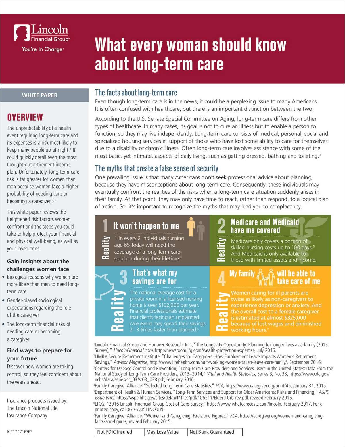 Client Guide: Help Women Clients Understand Long-Term Care
