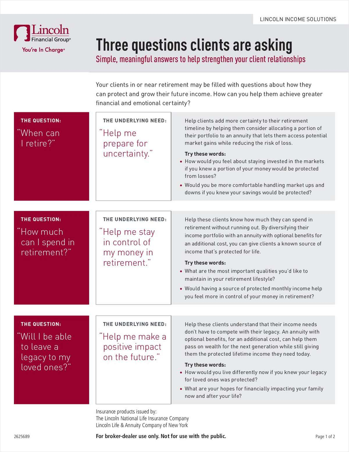 New Exclusive Retirement Income Conversation Guide