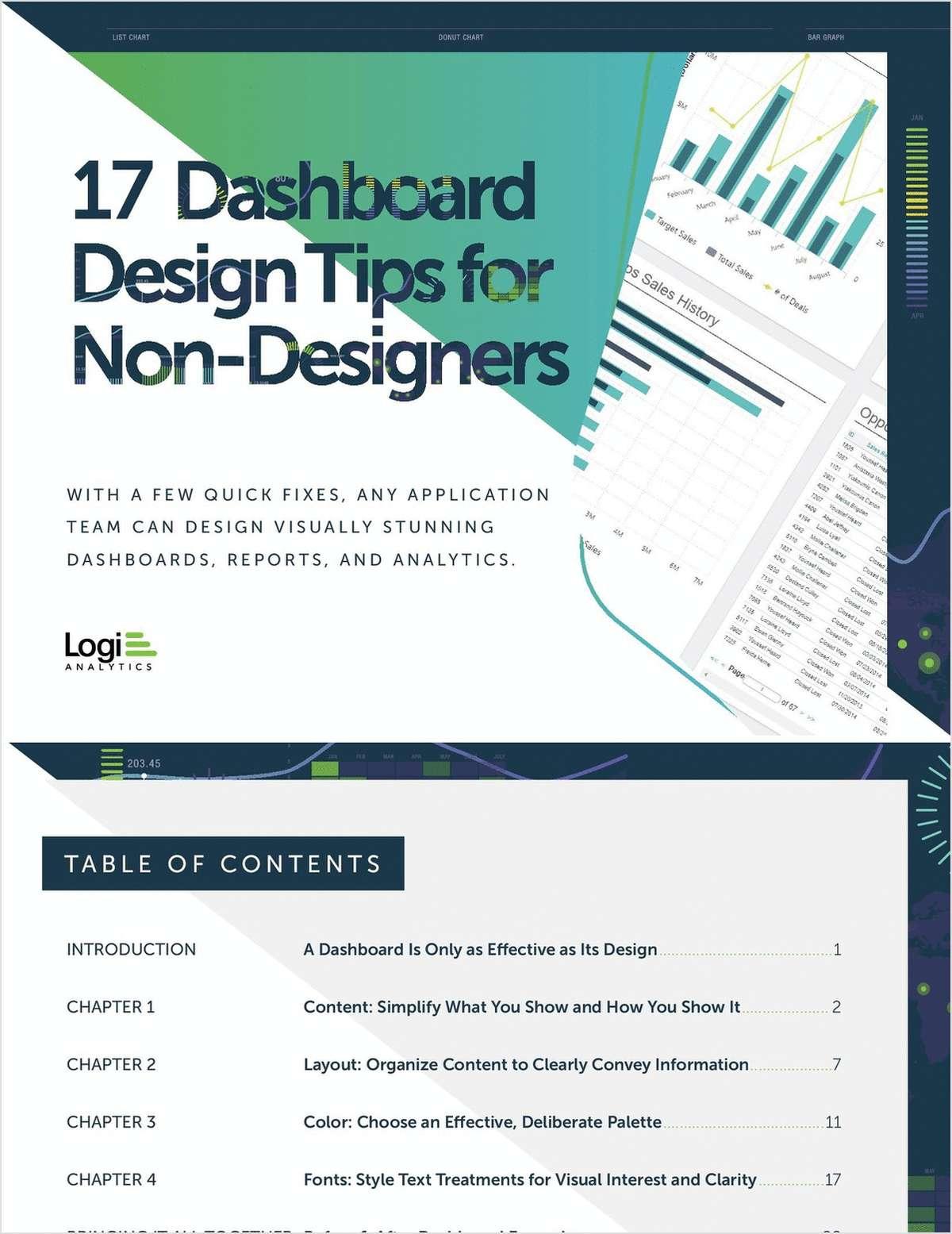 Dashboard Design Tips for Non-Designers