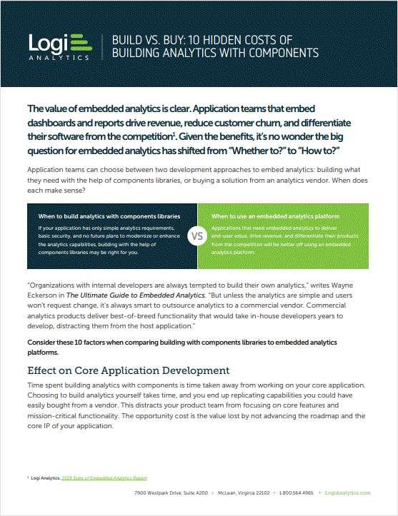 Build vs Buy: 10 Hidden Costs of Building Analytics with UI Components