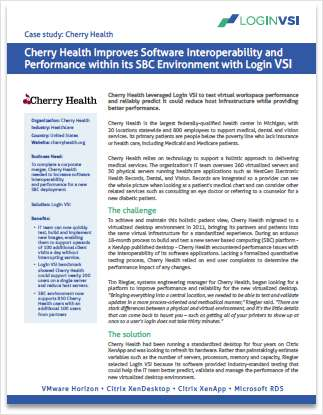 Cherry Health Improves VDI Software Interoperability and Performance