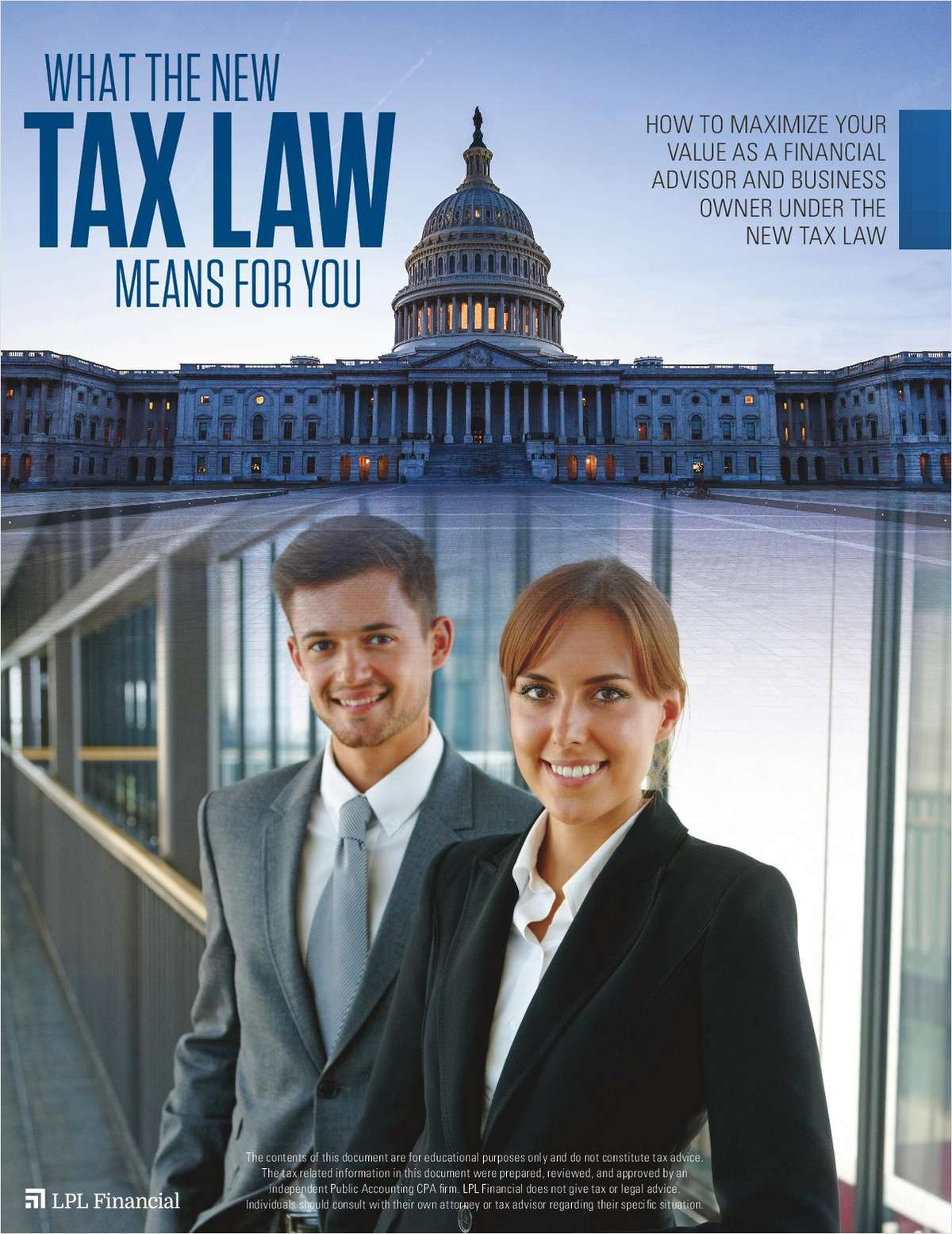 How to Maximize Your Value as a Financial Advisor and Business Owner Under the New Tax Law