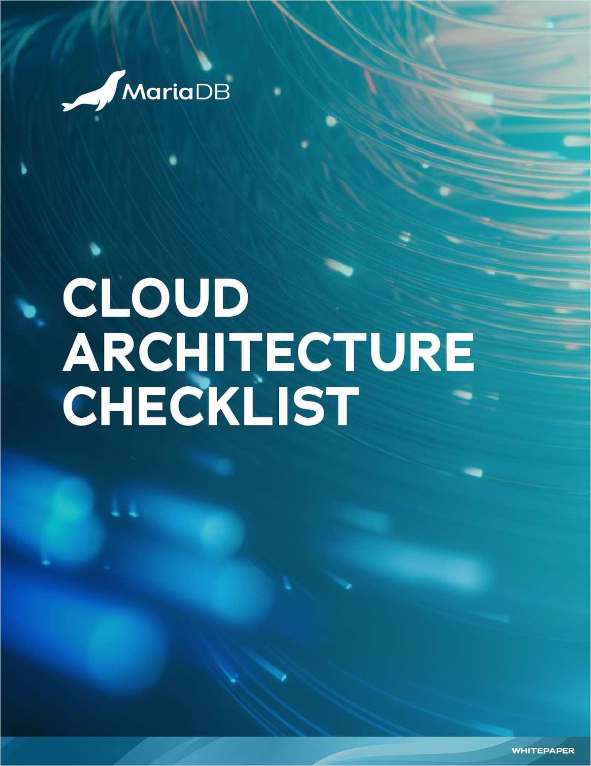 Cloud Architecture Checklist