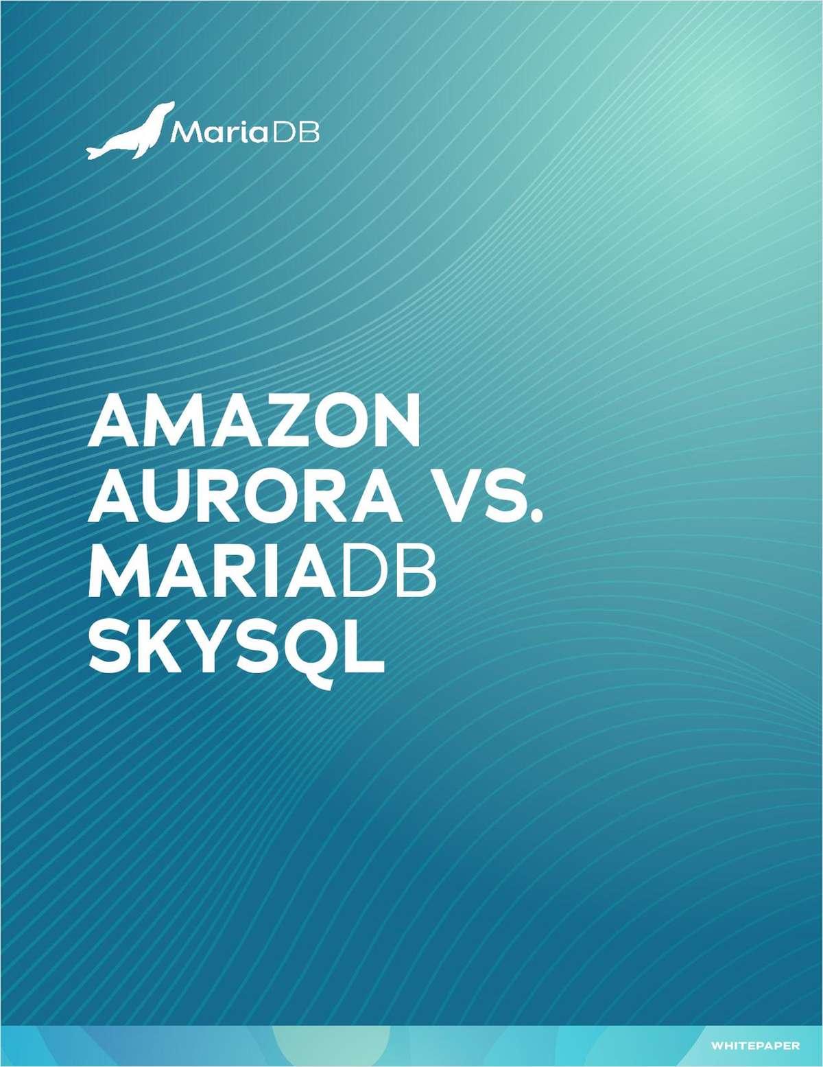 Amazon Aurora vs. MariaDB SkySQL