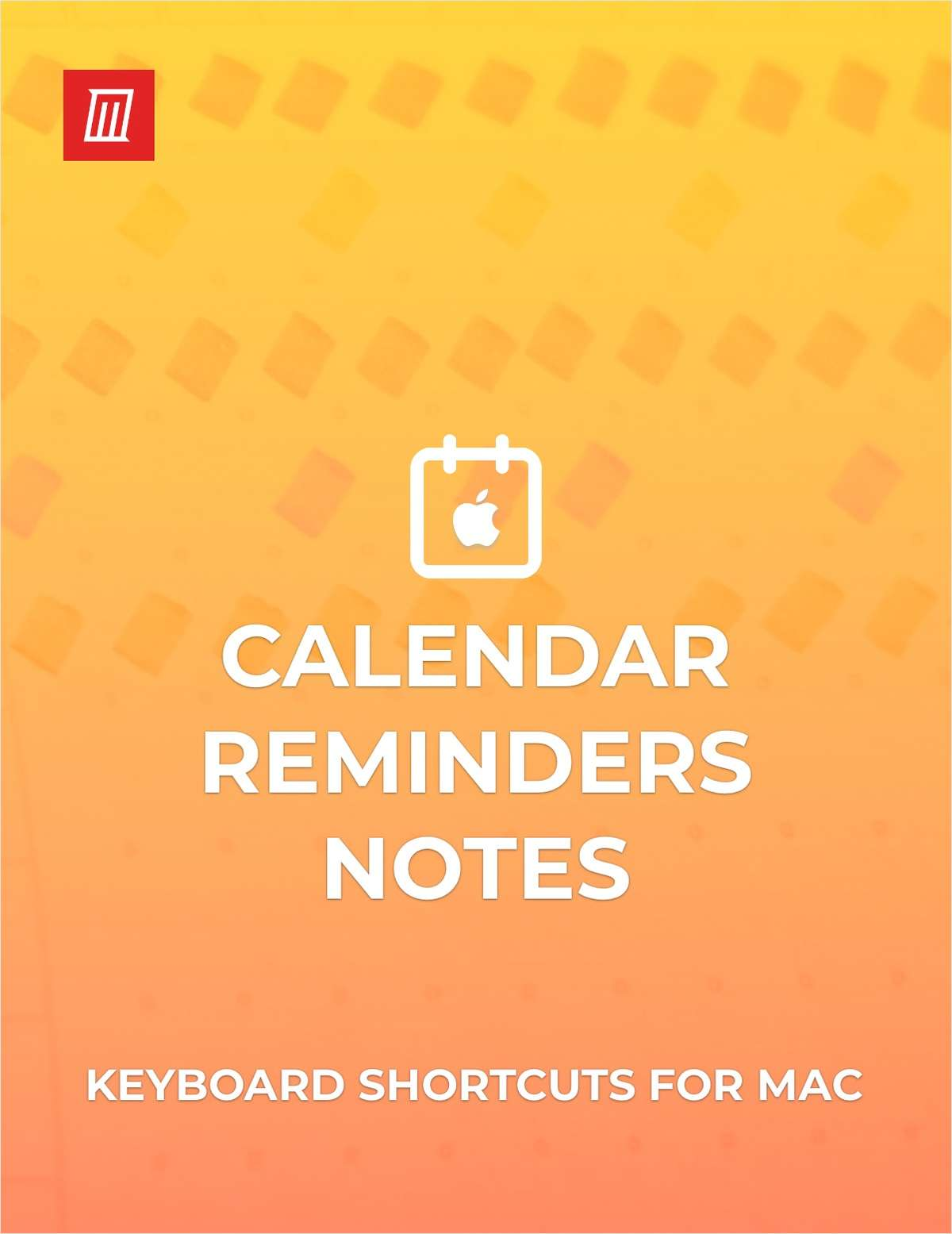 Keyboard Shortcuts for Calendar, Reminders, and Notes on Mac