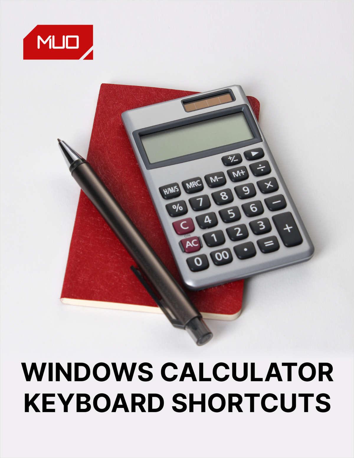 Windows Calculator: The Ultimate Keyboard Shortcuts Cheat Sheet
