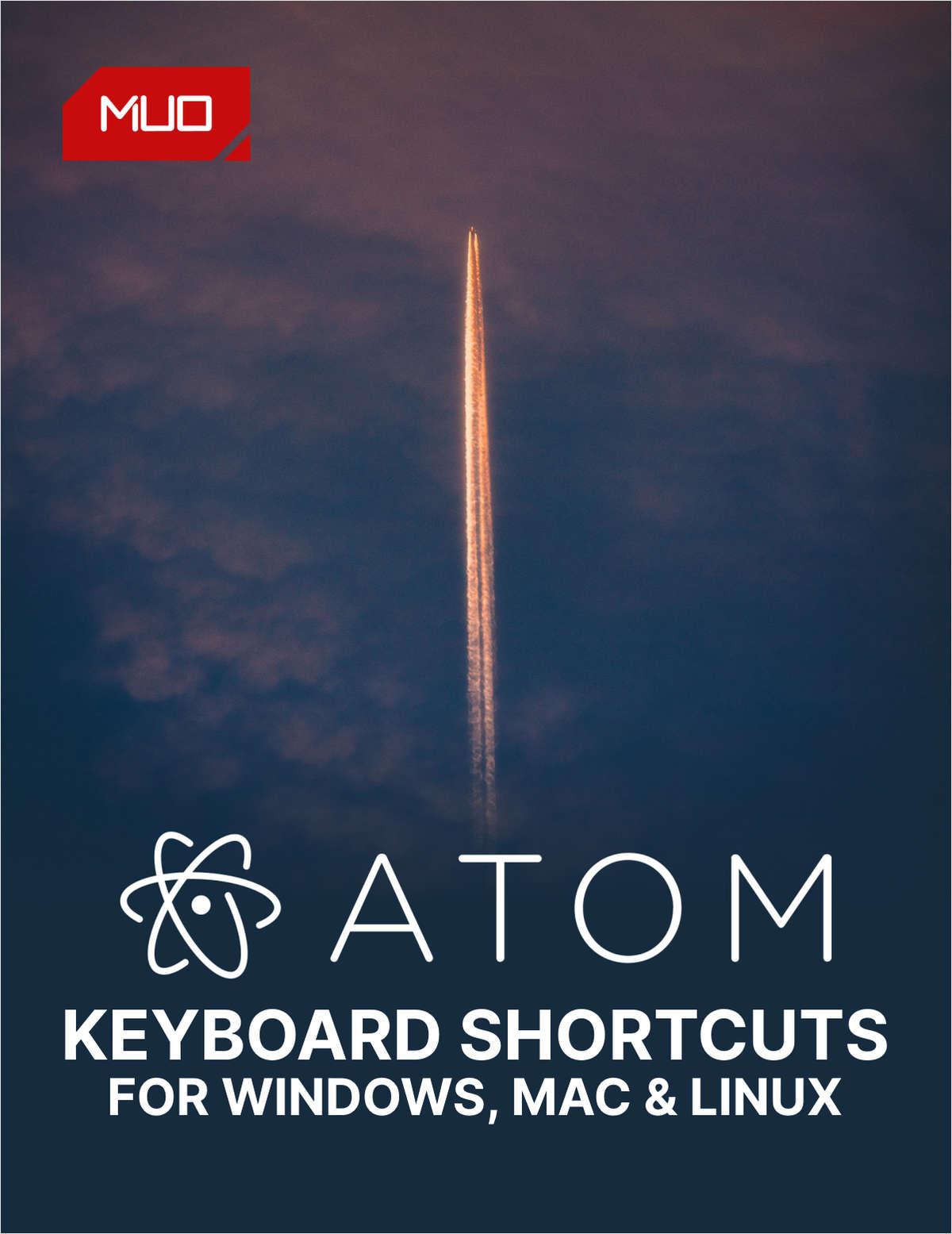 Atom Keyboard Shortcuts Cheat Sheet for Windows, Mac, and Linux