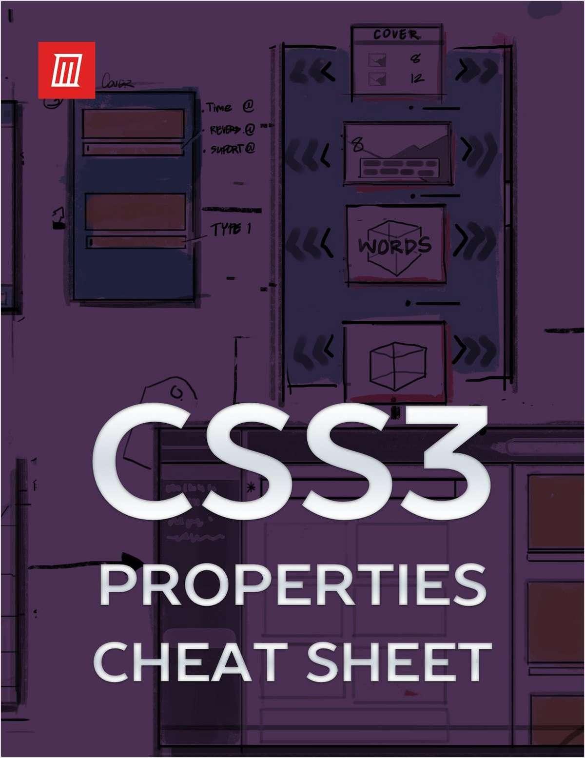Essential CSS3 Properties Cheat Sheet