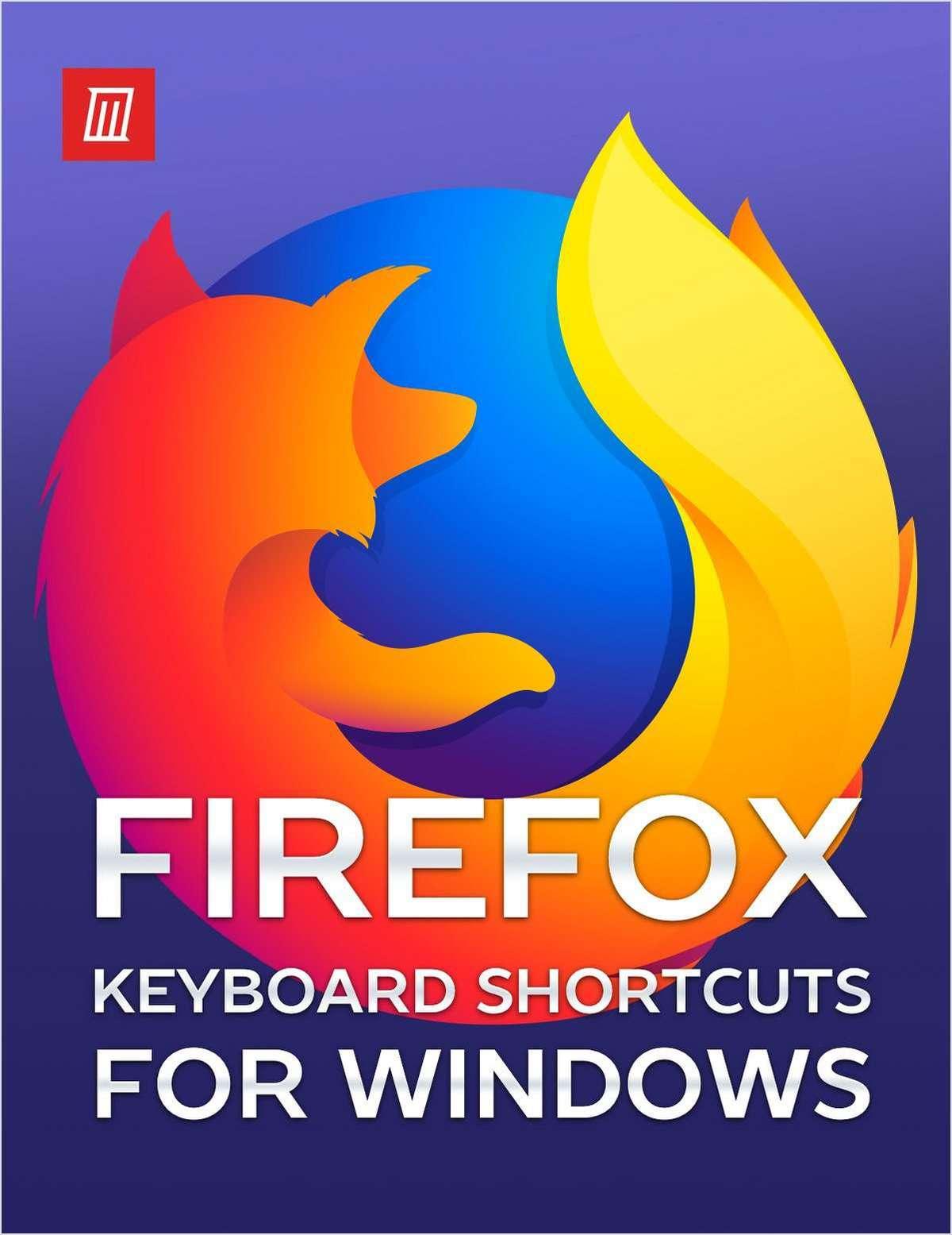 Mozilla Firefox Keyboard Shortcuts for Windows