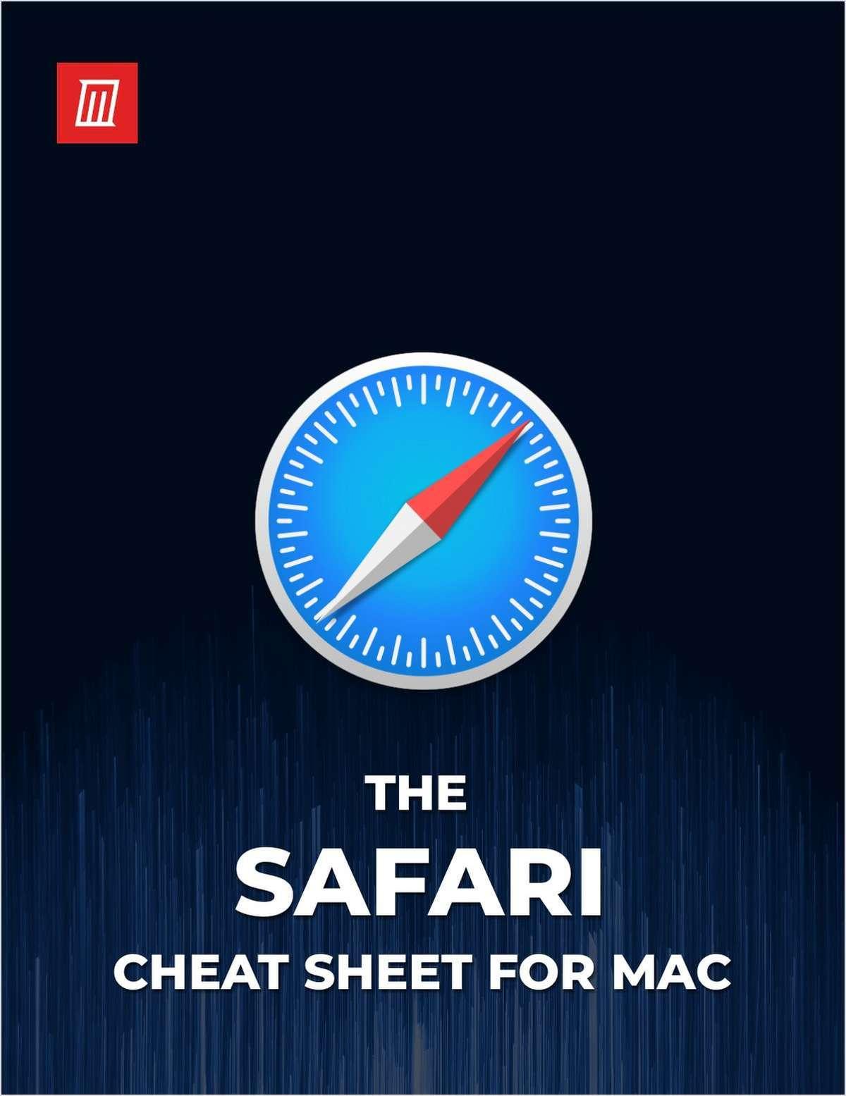 The Safari Cheat Sheet for Mac