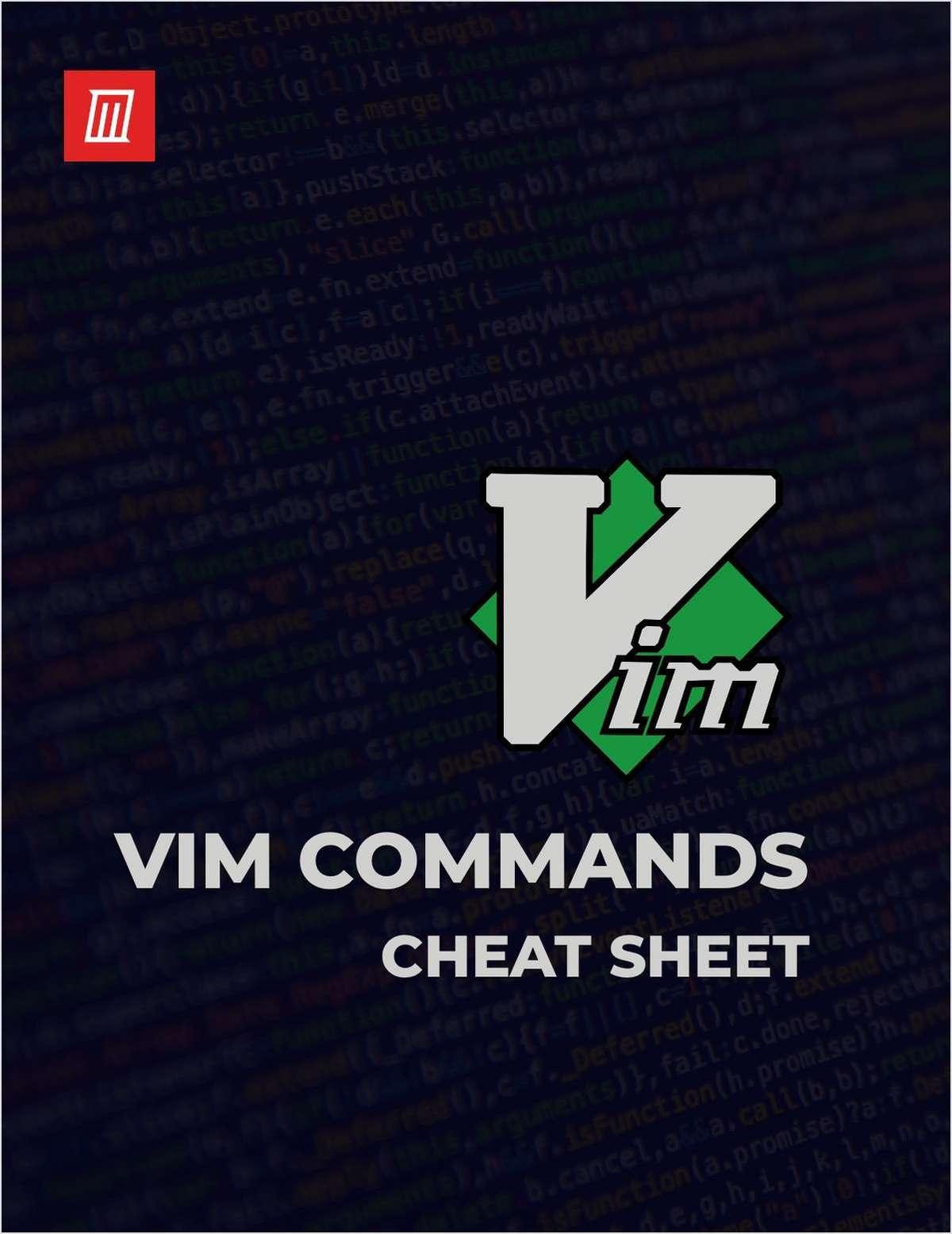 Essential Vim Commands Cheat Sheet
