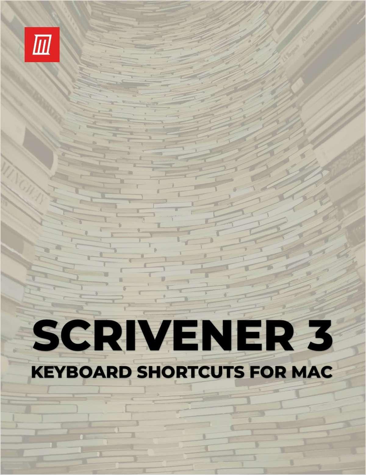 Scrivener 3 Keyboard Shortcuts for Mac