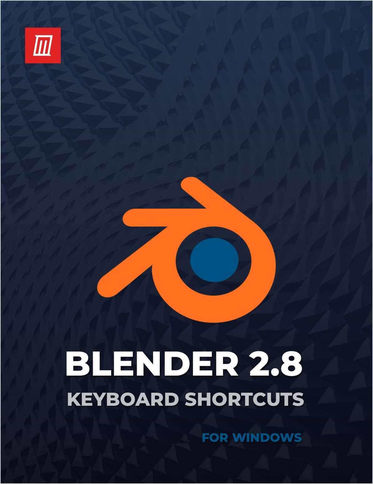Blender 2.8 Keyboard Shortcuts for Windows