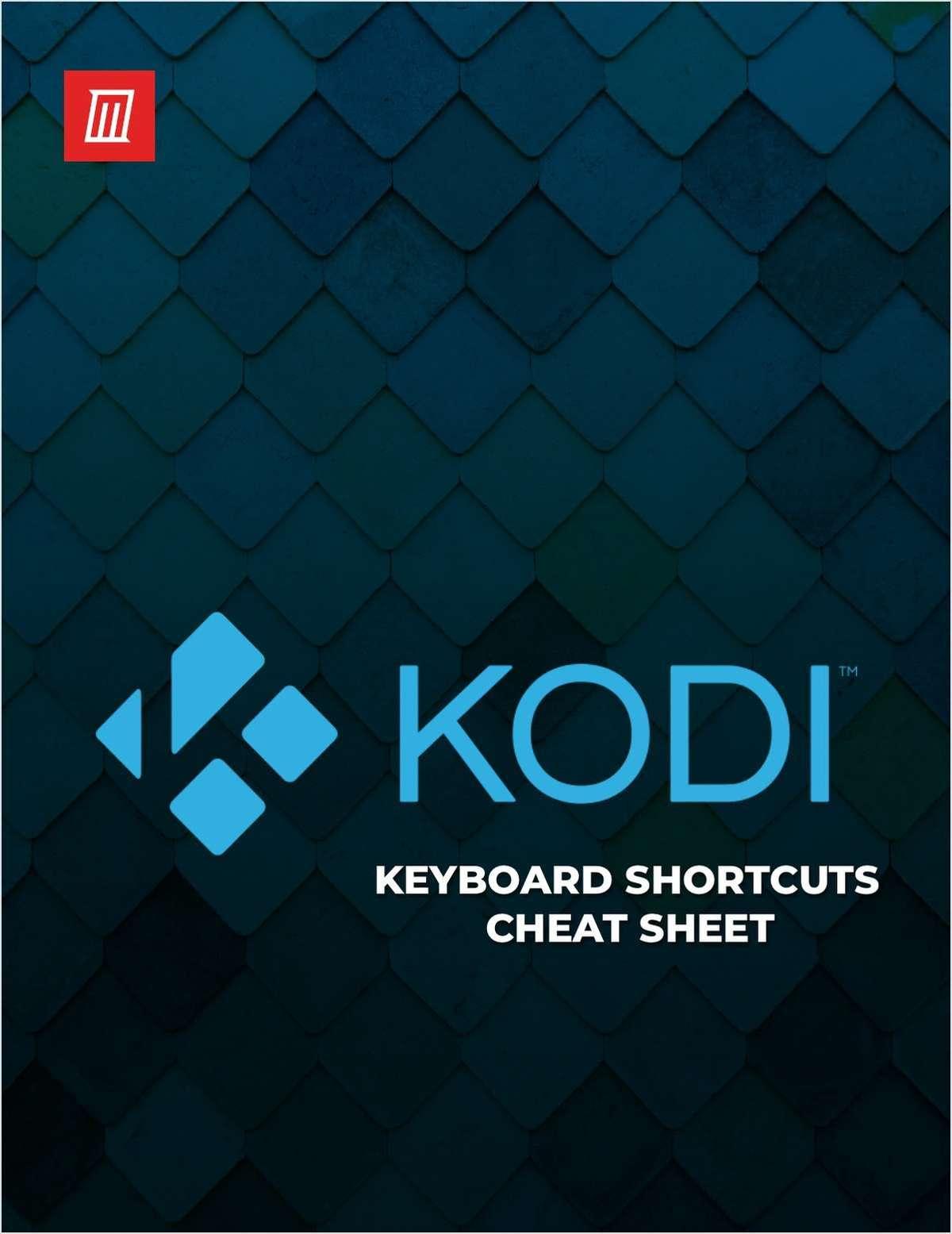 Kodi Keyboard Shortcuts