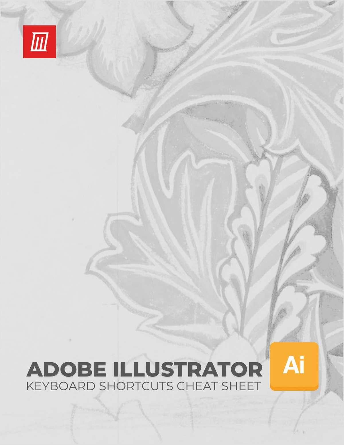 Adobe Illustrator Keyboard Shortcuts Cheat Sheet