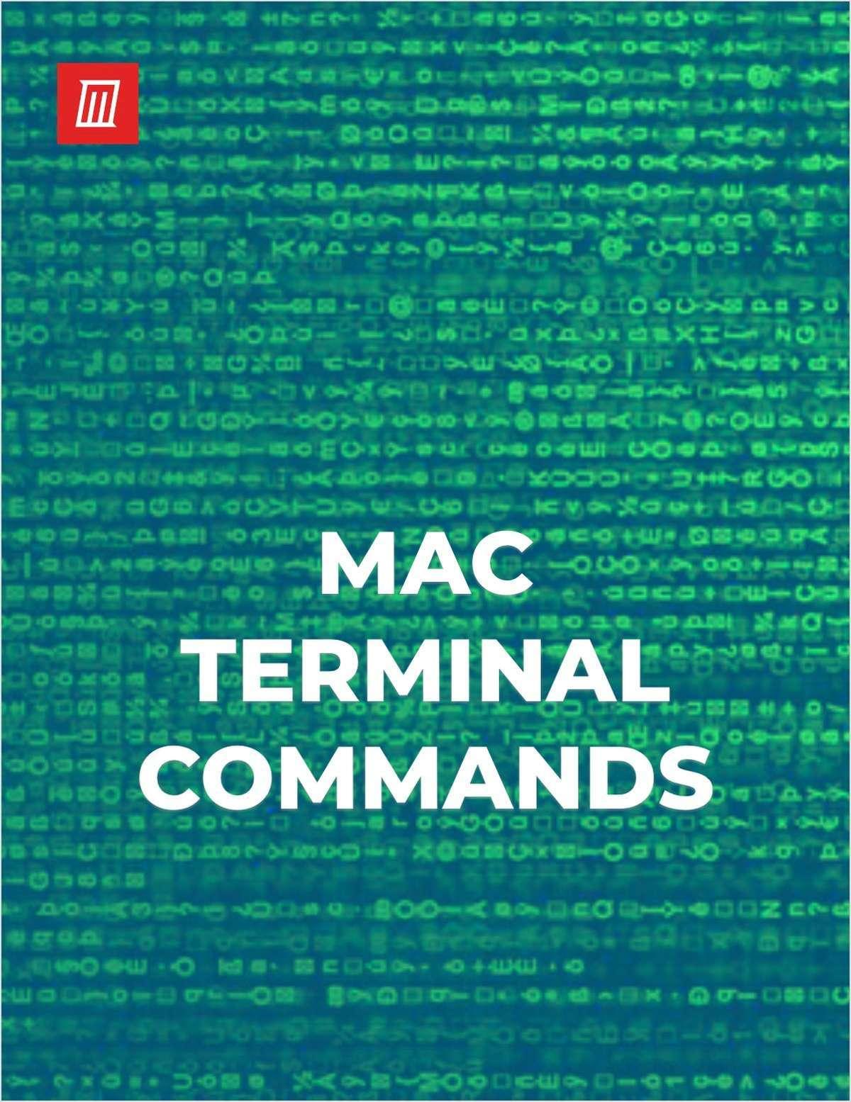 Mac Terminal Commands Cheat Sheet