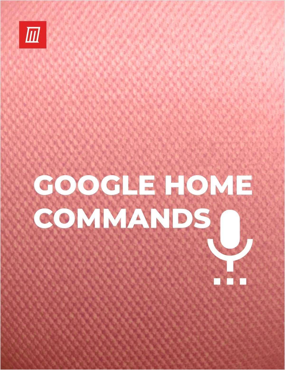 Top Google Home Commands