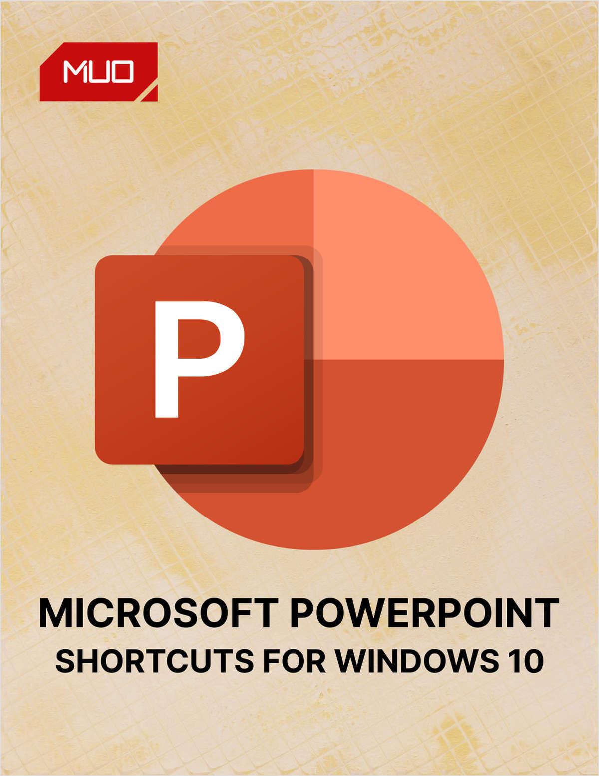 PowerPoint Keyboard Shortcuts for Windows