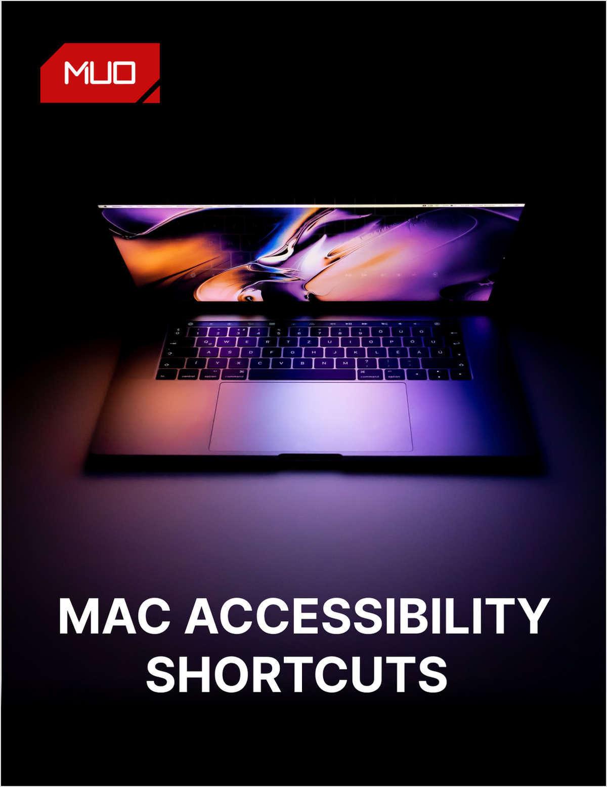 Mac Accessibility Shortcuts