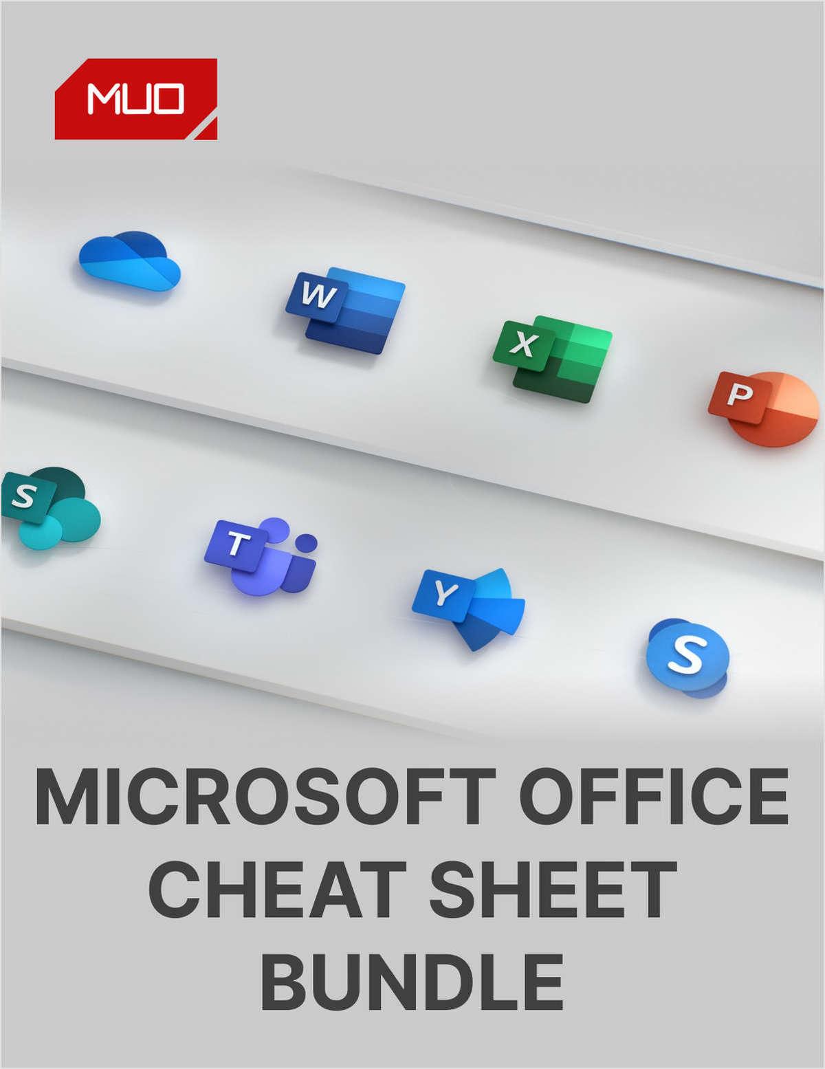 Microsoft Office Cheat Sheet Bundle