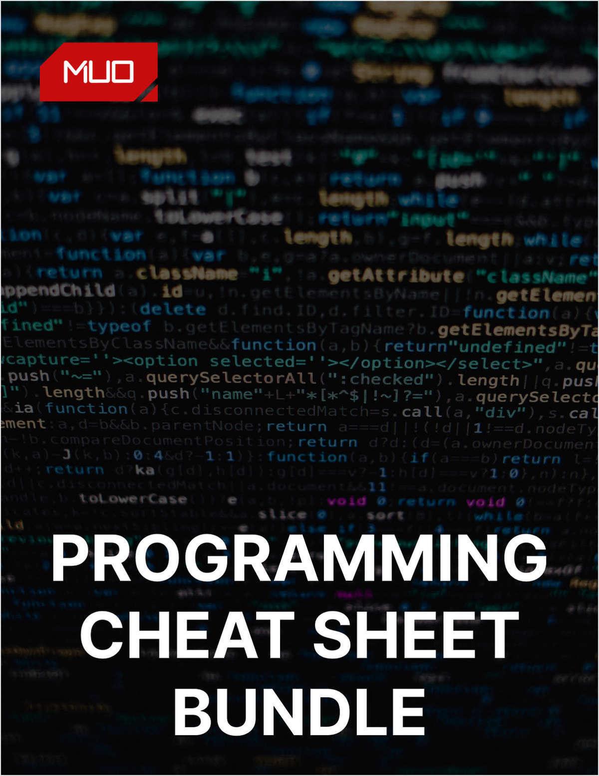 Programming Cheat Sheet Bundle