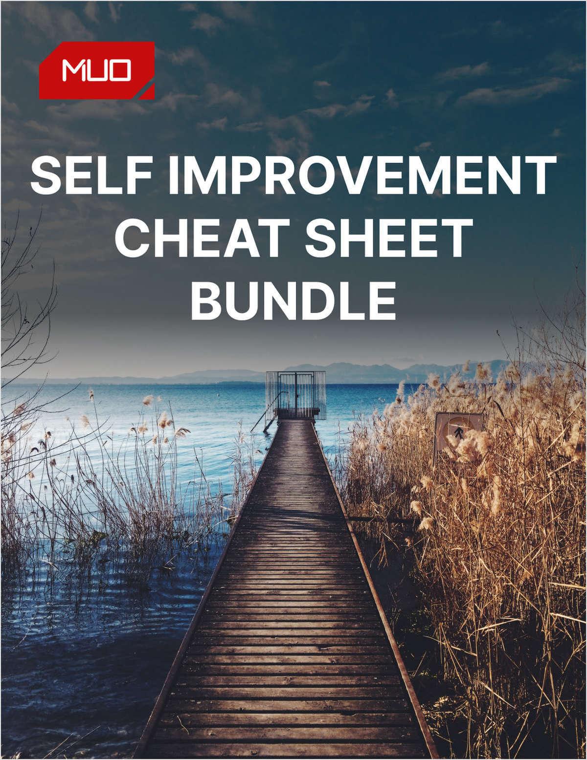 Self Improvement Cheat Sheet Bundle