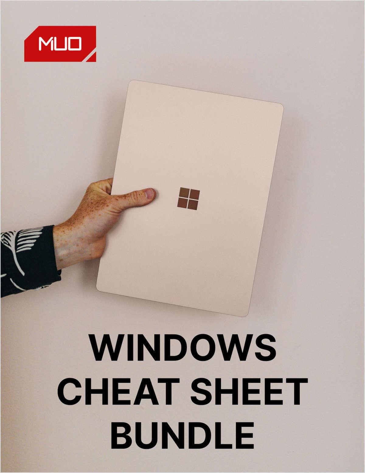 Windows Cheat Sheet Bundle