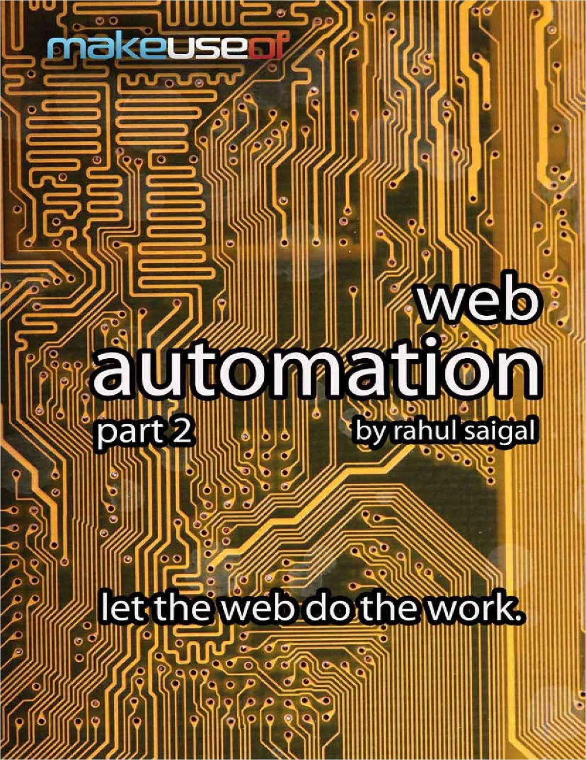 Web Automation, Part 2