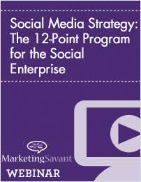 Social Media Strategy: The 12-Point Program for the Social Enterprise