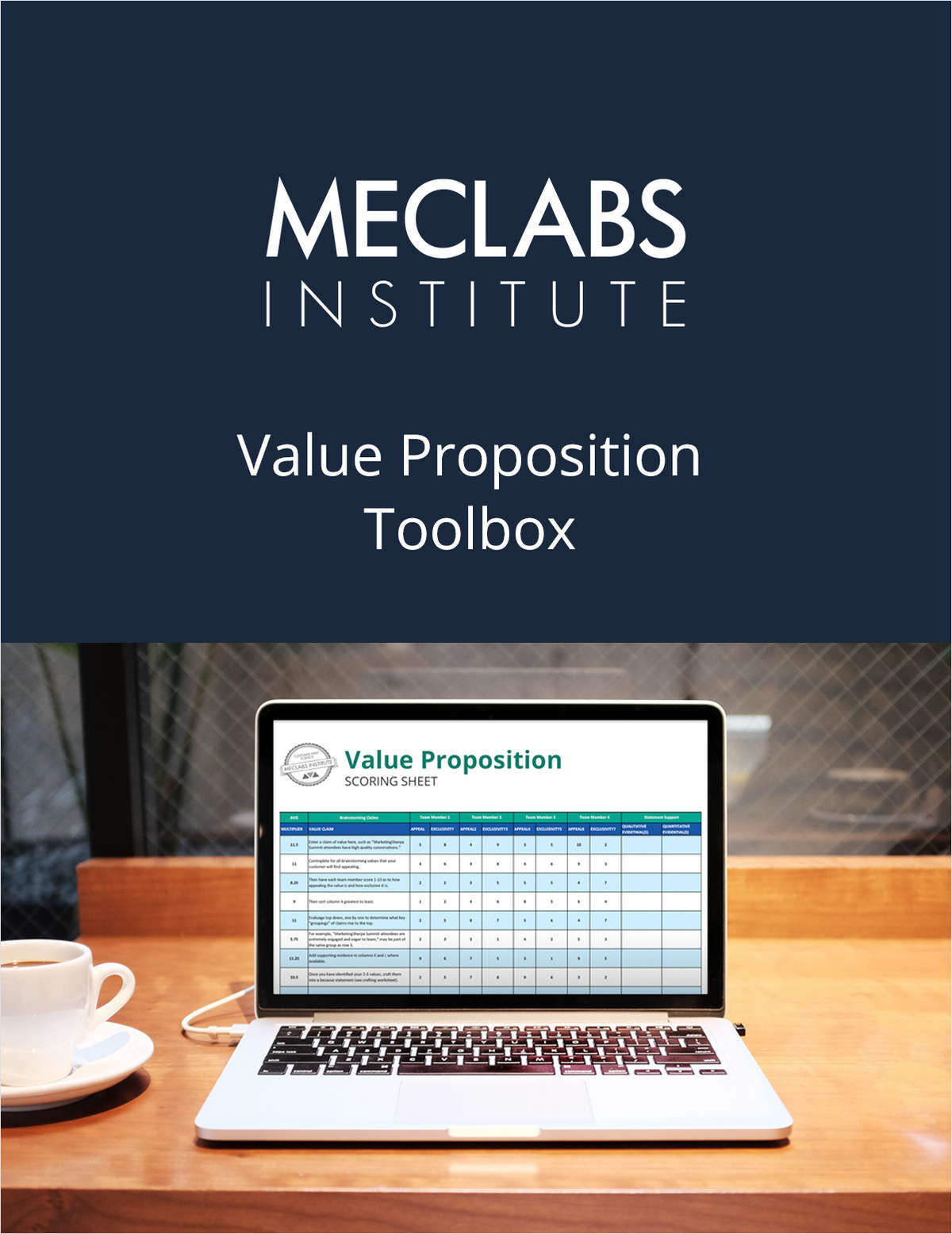The Value Proposition Toolbox from MECLABS