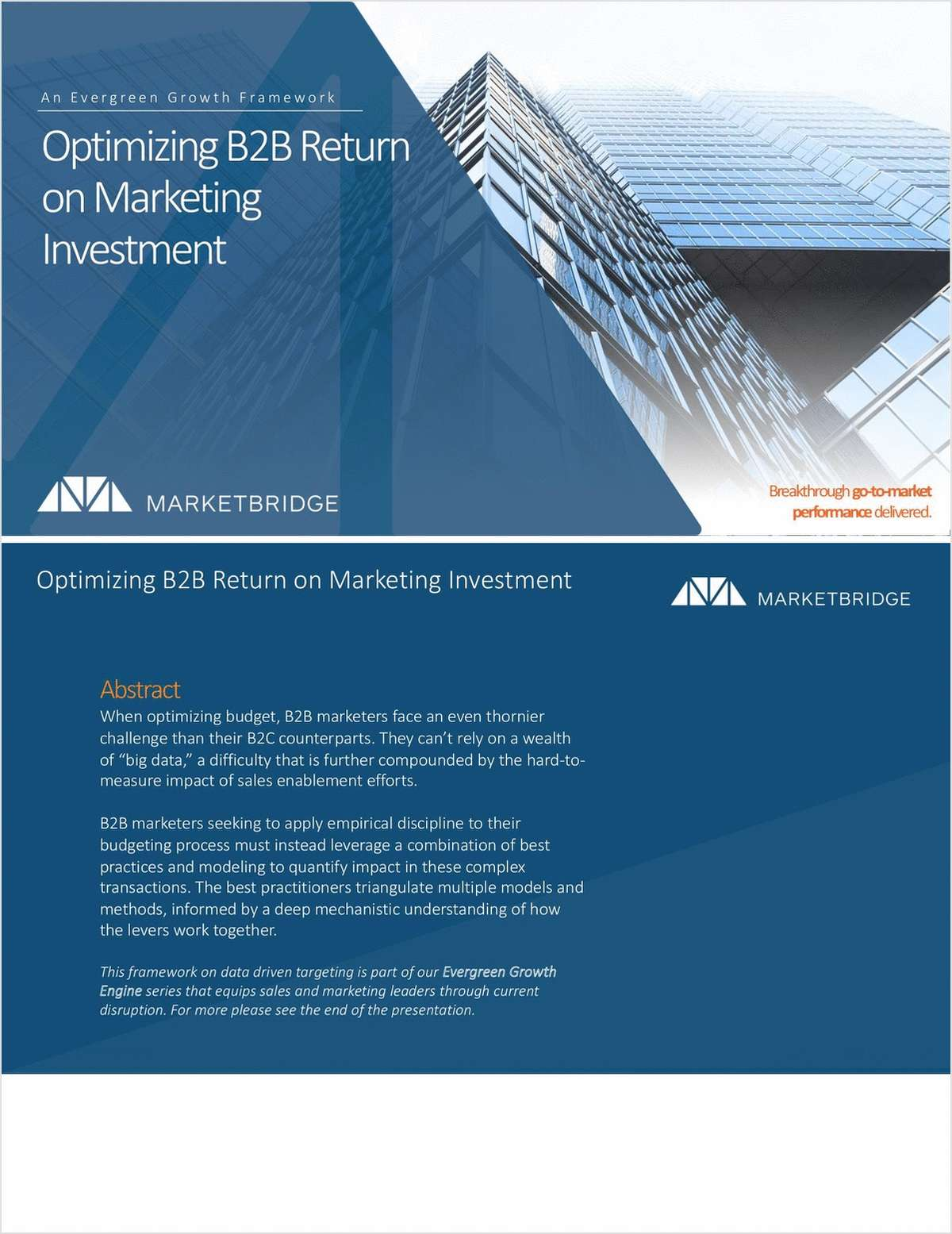 Optimizing B2B Return on Marketing Investment