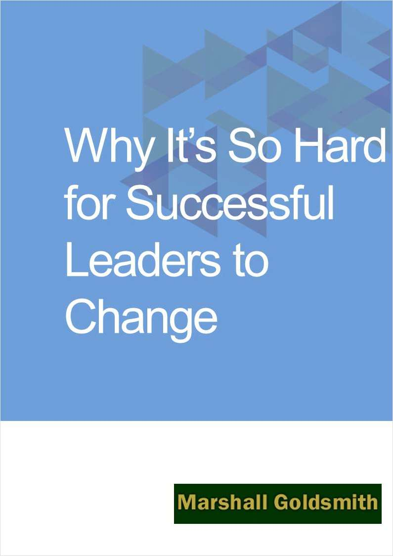 Why It's So Hard for Successful Leaders to Change