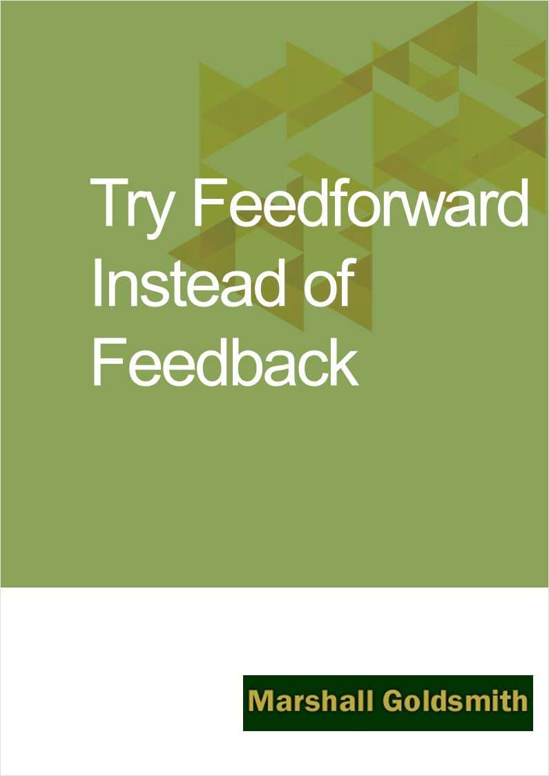 Try Feedforward Instead of Feedback