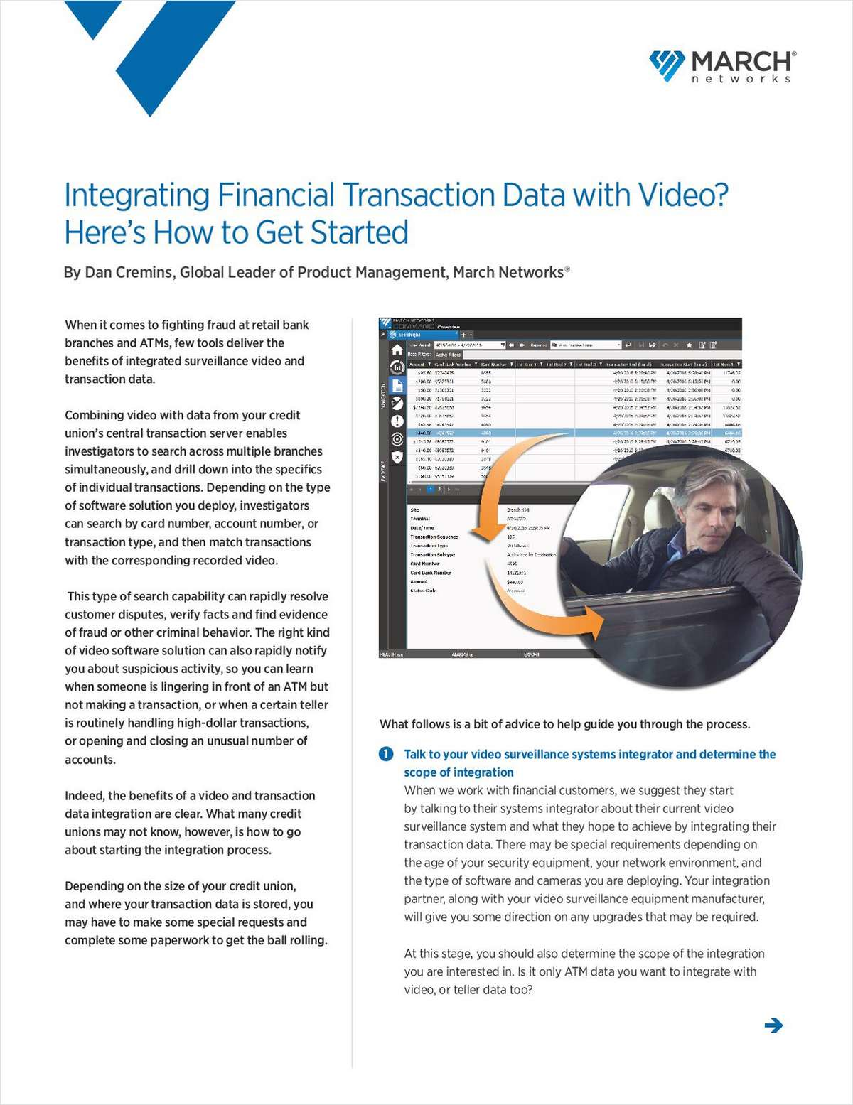 Tips to Help Your Credit Union Integrate Surveillance Video with Transaction Data