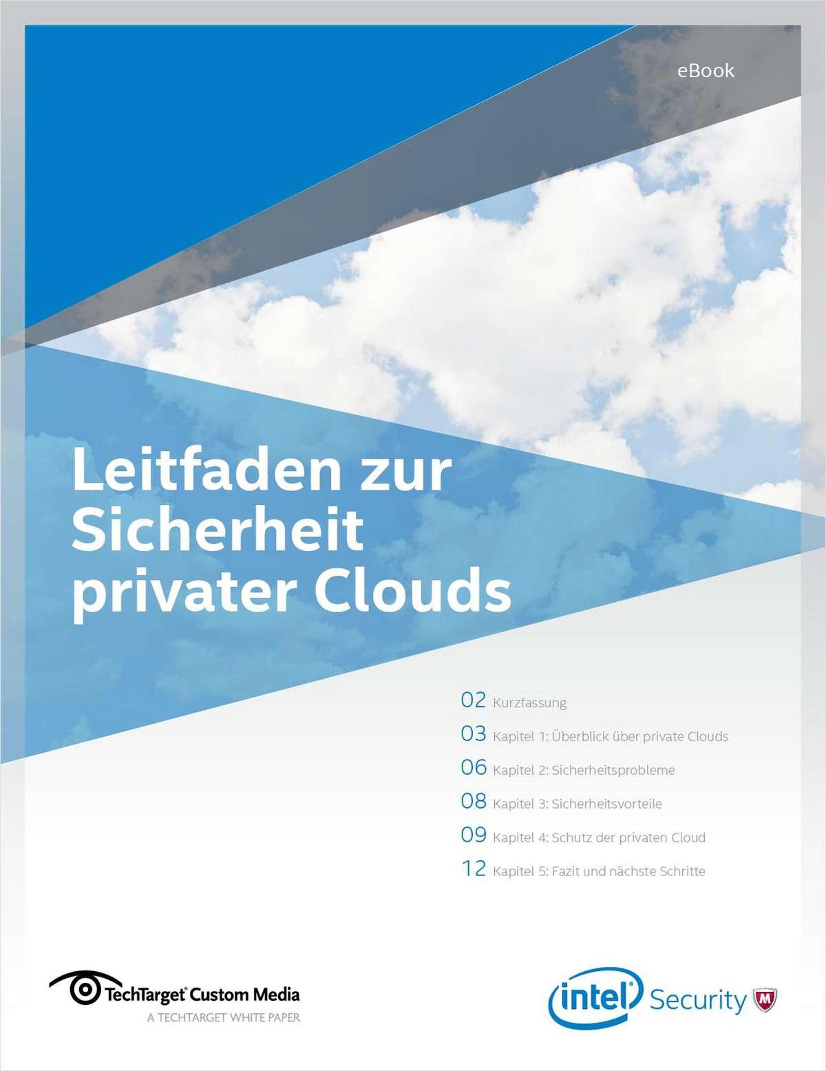 Leitfaden zur Sicherheit privater Clouds