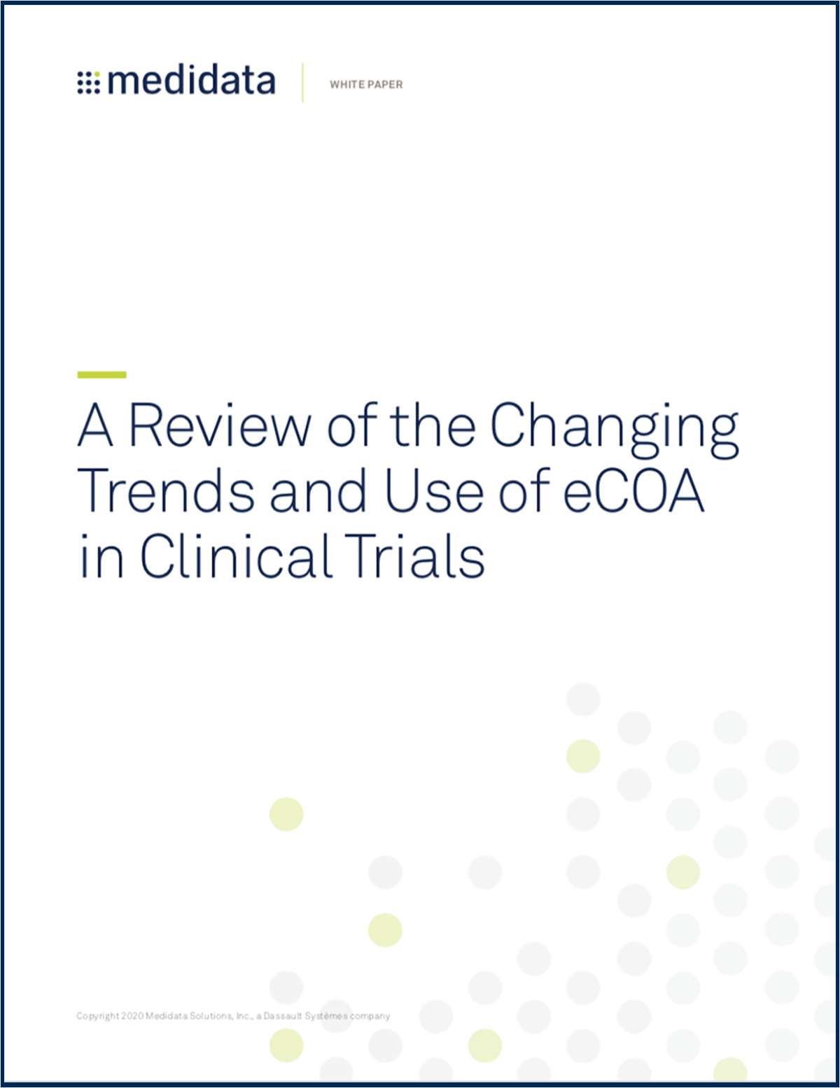 A Review of the Changing Trends and Use of eCOA in Clinical Trials