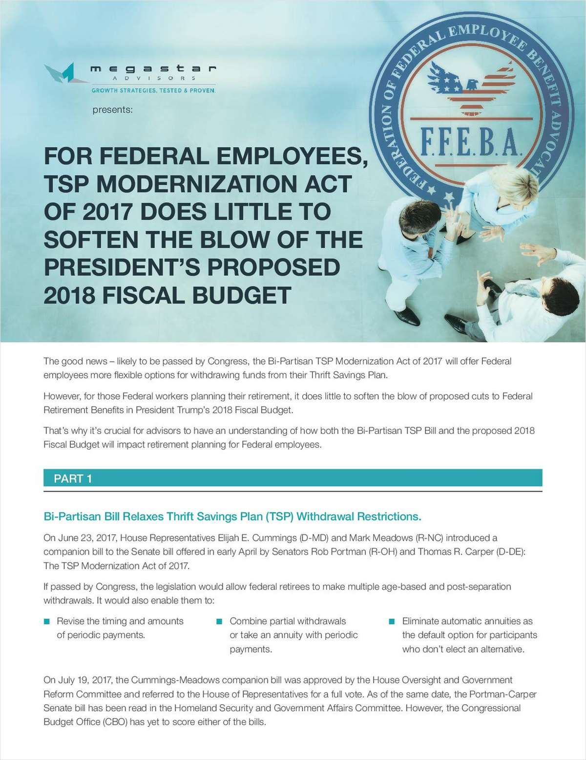 {Advisor Alert} TSP Modernization Act of 2017 + Trump's Benefits Cuts
