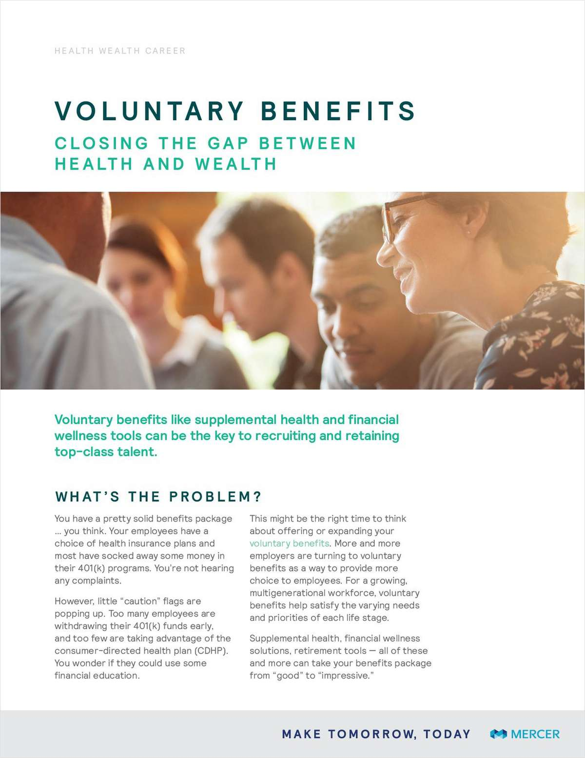 Voluntary Benefits: Closing the Gap Between Health and Wealth