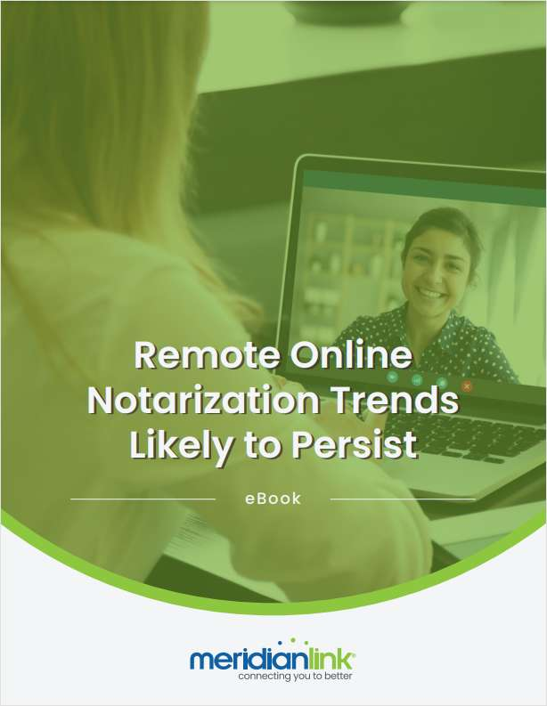 Remote Online Notarization (RON) Trends Likely to Persist
