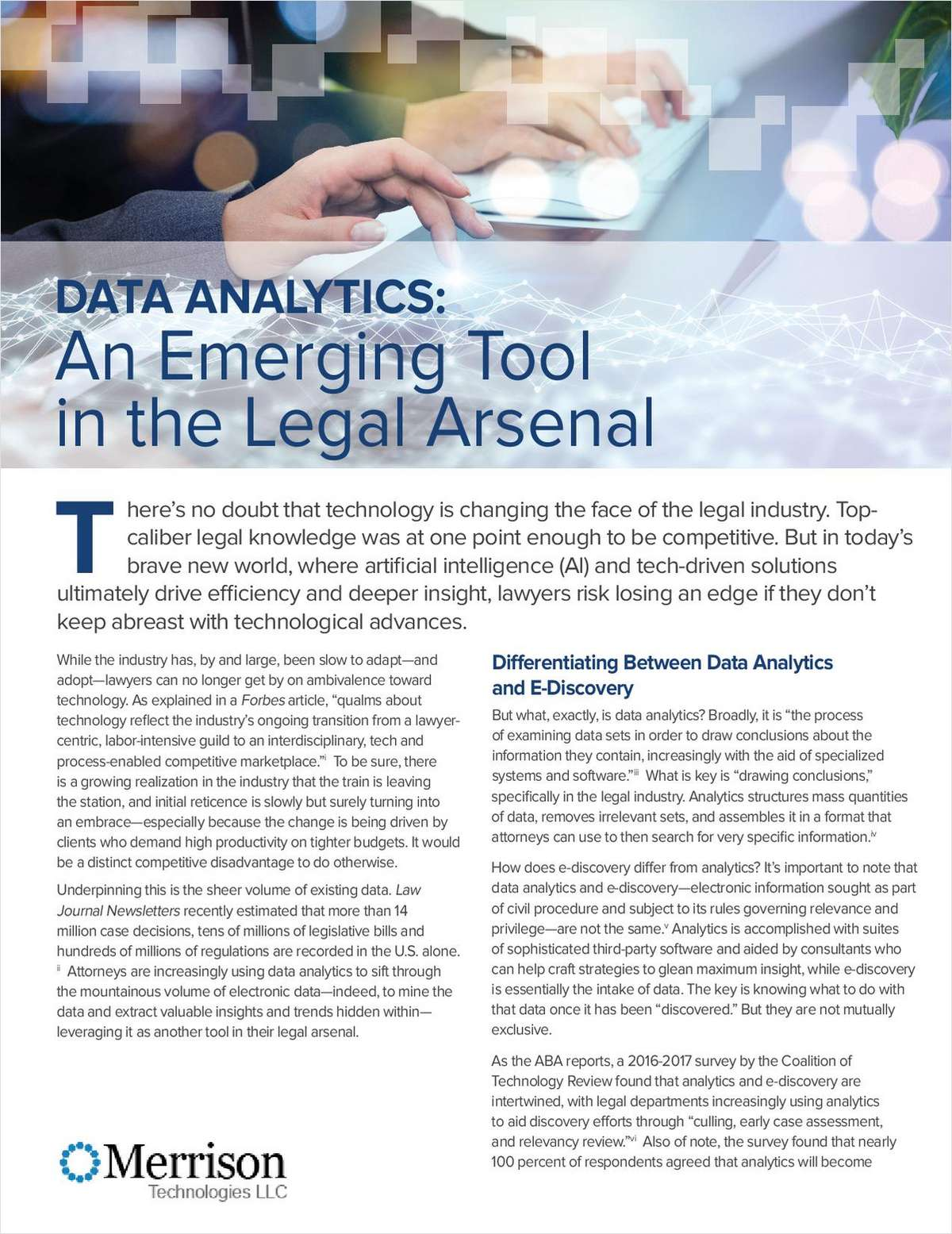 Data Analytics: An Emerging Tool in the Legal Arsenal