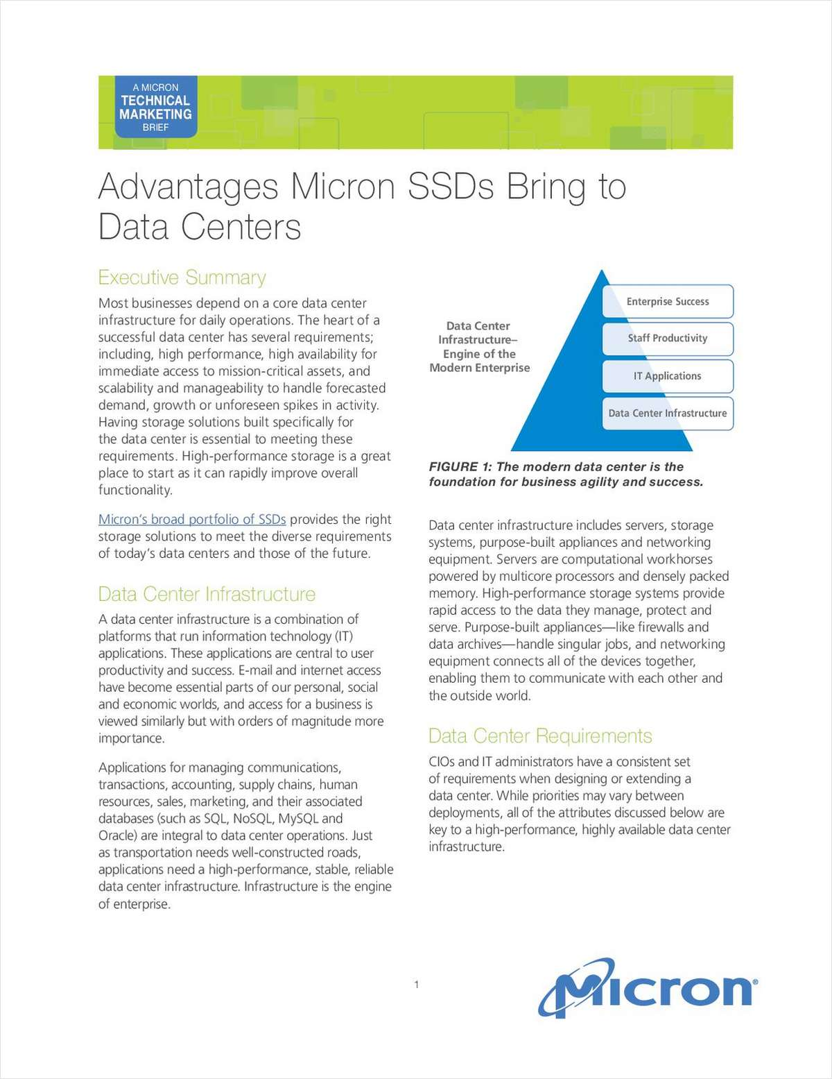 Advantages Micron SSDs Bring to Data Centers