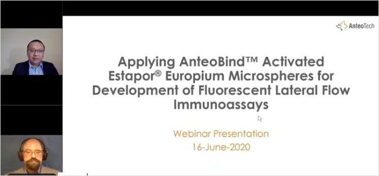 Applying AnteoBind Activated Estapor Europium Microspheres for Development of Fluorescent Lateral Flow Immunoassays